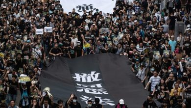 Photo of Hong Kong protesters march in a new outpouring of grievances