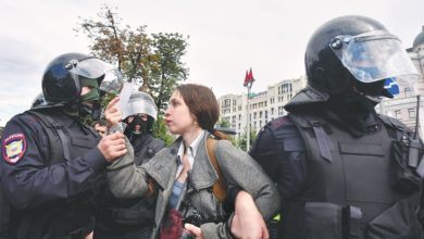 Photo of Hundreds detained at an opposition rally in Moscow