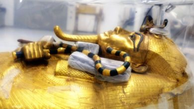 Photo of The Large Gilded Coffin of King Tutankhamun