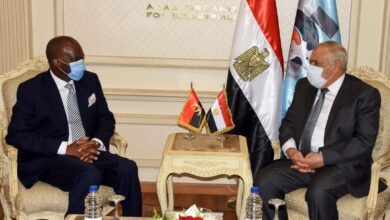 Photo of Ambassador of Angola visits Egypt's AOI for Significant Cooperation