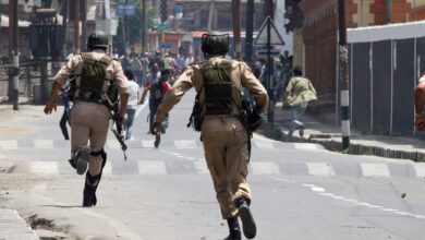 Photo of IOK police charge army officer with killing three labourers in staged gunfight