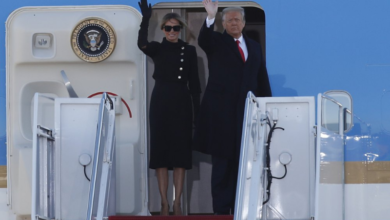 Photo of Trump bids farewell to Washington, hints of comeback