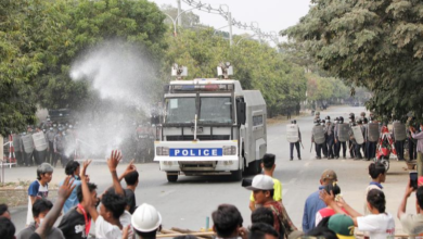 Photo of Two killed as Myanmar police open fire on protesters