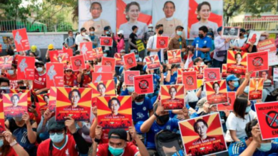 Photo of Myanmar protesters take to the streets again after worst day of violence