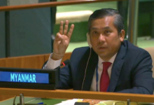 Photo of Myanmar's UN ambassador appeals for 'action against military'