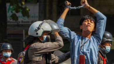 Photo of Woman reportedly killed as Myanmar police launch most extensive crackdown against anti-coup protesters