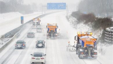 Photo of Heavy snowstorm pounds Germany, upends travel