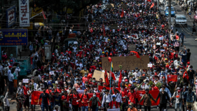 Photo of 'This is for our future': Tens of thousands protest Myanmar coup for second day