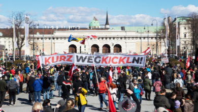 Photo of Thousands turn out for Vienna anti-lockdown protest
