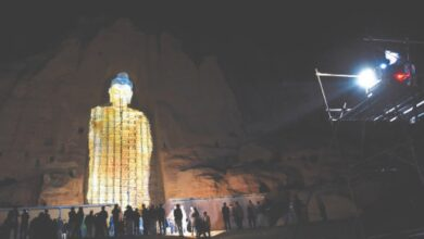 Photo of Afghan Buddha in virtual return on anniversary of destruction by Taliban