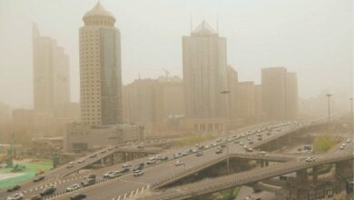 Photo of Beijing enveloped in hazardous sandstorm for second time in two weeks
