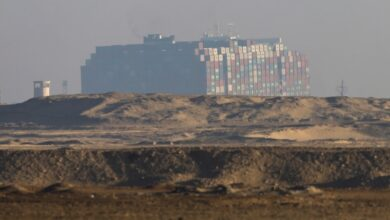 Photo of Suez Canal Authority says stranded ship partially refloated