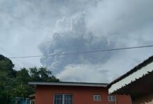 Photo of Volcano erupts on Caribbean island