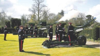 Photo of Gun salutes fired across UK to mark Prince Philip's death