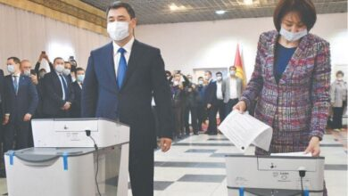 Photo of Kyrgyzstan referendum shows support for presidential rule