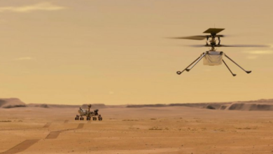 Photo of Perseverance rover captures sound of Ingenuity copter flying on Mars