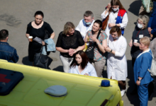 Photo of 9 people, including children, dead in Russia school shooting