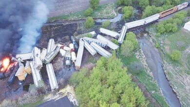 Photo of Train derailment, fire prompt evacuations in US town
