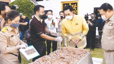 Photo of Thai museum unveils 1,000-year-old artefacts returned by US