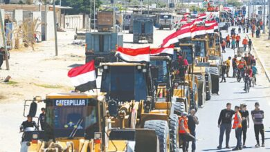 Photo of Egypt sends equipment to begin reconstruction work in Gaza