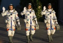 Photo of China launches first crew to live on new space station