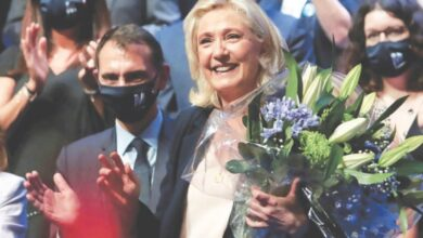 Photo of 'Combative' Le Pen re-elected as head of France's far-right